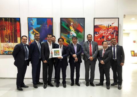 Canon EMEA CEO Yuichi Ishizuka visits Art Plus Gallery